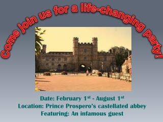 Come join us for a  life-changing  party!