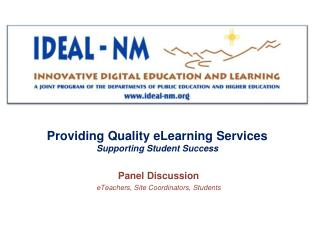 Providing Quality eLearning Services Supporting Student Success