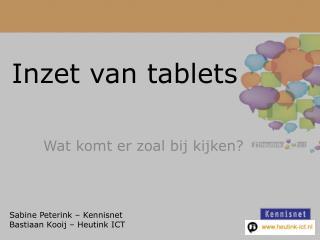 Inzet van  tablets