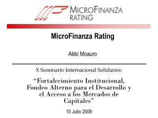 MicroFinanza Rating  Aldo Moauro