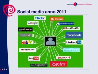 Social  media anno 2011