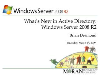 What's New in Active Directory: Windows Server 2008 R2