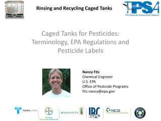 Caged Tanks for Pesticides: Terminology, EPA Regulations and Pesticide Labels