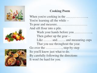 Cooking  Poem
