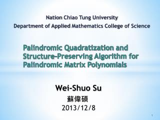 Palindromic  Quadratization  and Structure-Preserving Algorithm for Palindromic Matrix Polynomials