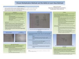Chosen Multiplication Methods and the Ability to Learn New Methods