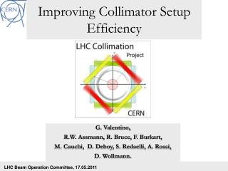 Improving Collimator Setup Efficiency