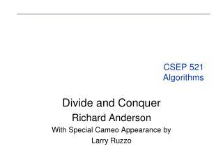 CSEP 521 Algorithms