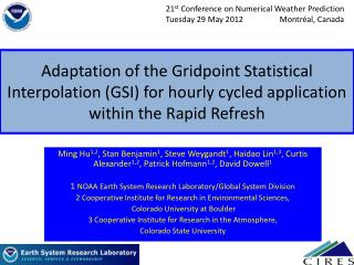 21 st  Conference on Numerical Weather Prediction
