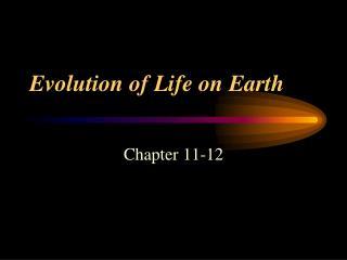Evolution of Life on Earth