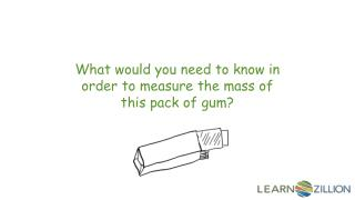 What would you need to know in order to measure the mass of this pack of gum?