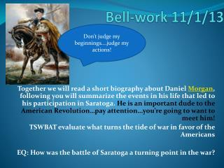 Bell-work 11/1/13
