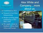Alex White and Company