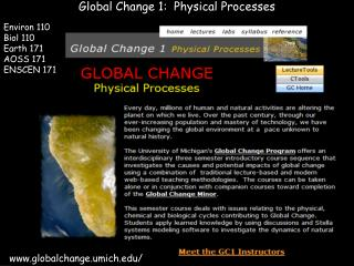Global Change 1:  Physical Processes