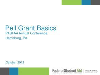 Pell Grant Basics