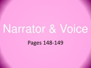 Narrator & Voice