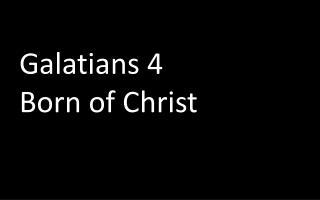 Galatians 4 Born of Christ