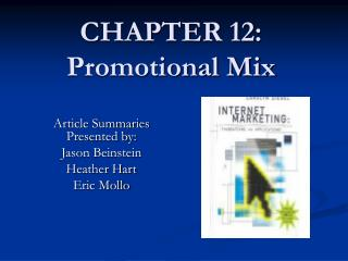CHAPTER 12: Promotional Mix