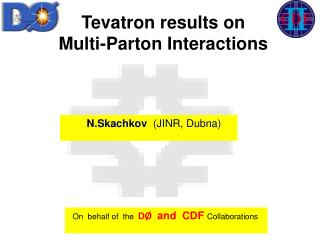 Tevatron  results on  Multi-Parton Interactions