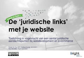 De 'juridische links' met je website