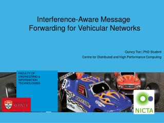 Interference-Aware Message  Forwarding for Vehicular Networks