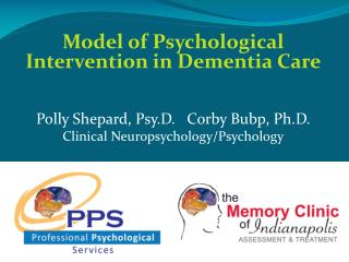 Model of Psychological Intervention in Dementia Care