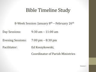 Bible Timeline Study