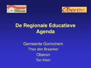 De Regionale Educatieve Agenda