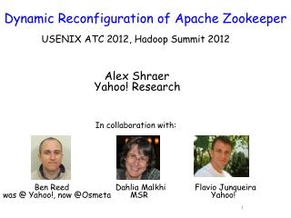 Dynamic Reconfiguration of  Apache Zookeeper