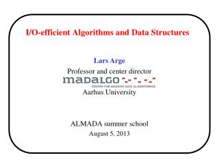 I/O-efficient Algorithms and Data Structures