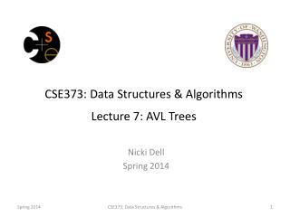 CSE373: Data Structures & Algorithms Lecture 7:  AVL  Trees