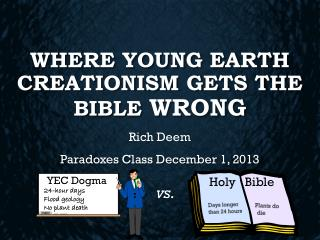 Where Young Earth Creationism Gets the Bible  Wrong