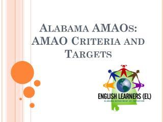 Alabama AMAOs:  AMAO Criteria and Targets