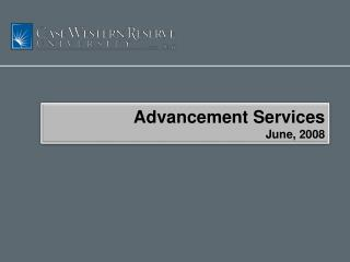 Advancement Services June, 2008