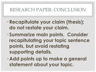 Research Paper: Conclusion
