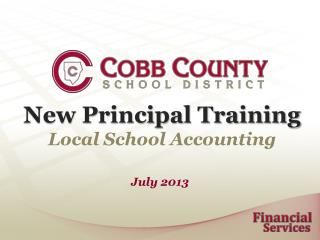 New Principal Training Local School Accounting