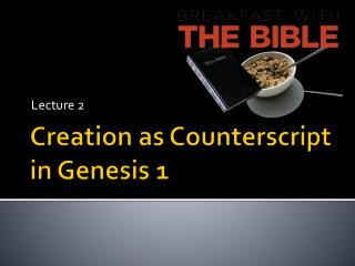 Creation as Counterscript in Genesis 1
