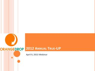 2012 Annual True-UP