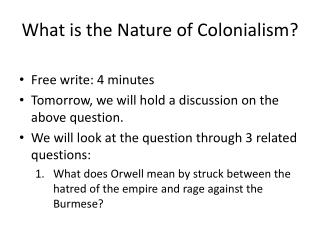 What is the Nature of Colonialism?