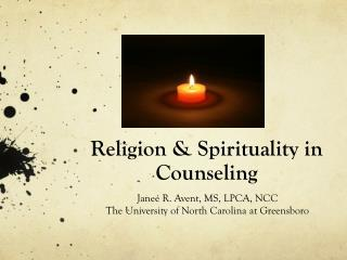 Religion & Spirituality in Counseling