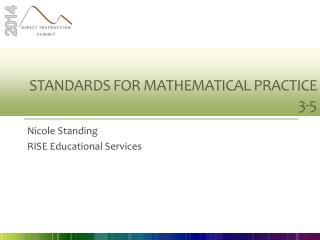 Standards for mathematical practice 3-5