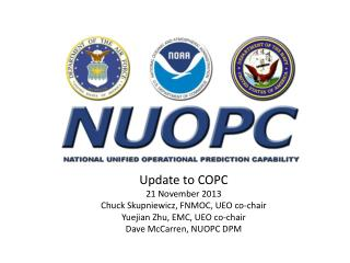 Update to COPC 21 November 2013 Chuck  Skupniewicz , FNMOC, UEO co-chair