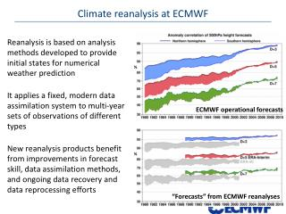 Climate reanalysis at ECMWF