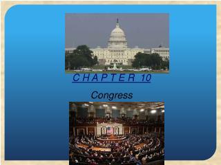C H A P T E R   10 Congress