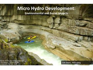 Micro Hydro Development: Environmental and Social Impacts