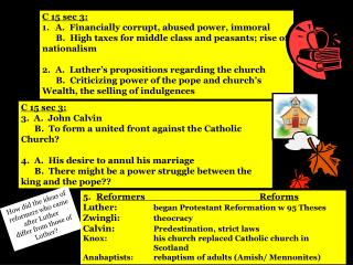 C 15 sec 3: A.  Financially corrupt, abused power, immoral
