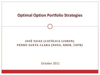 Optimal Option Portfolio Strategies