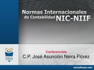 Conferencista C.P.  José Asunción Neira Flórez