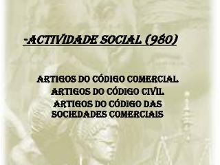 -Actividade social (980)