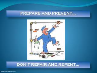 PREPARE AND PREVENT…